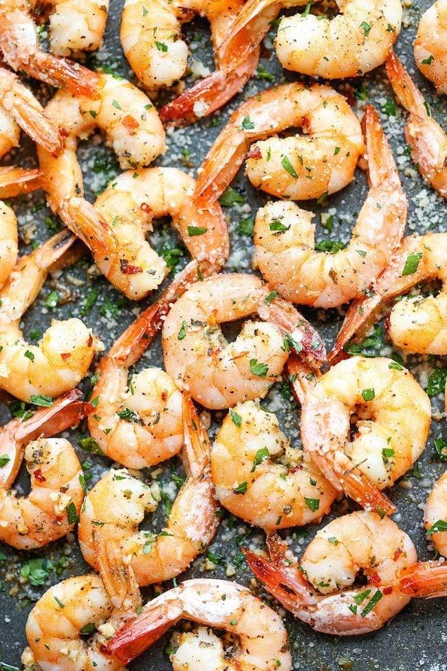 sheet pan - garlic - roasted- shrimp
