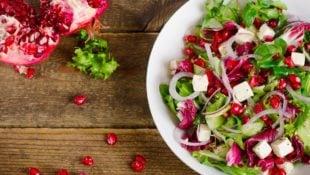 Pomegranate Feta Salad with Lemon