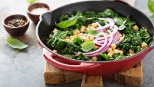 Sautéed Chickpeas and Kale Salad