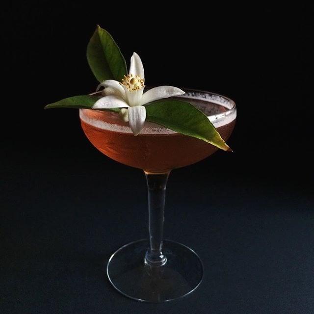 bourbon floral cocktail