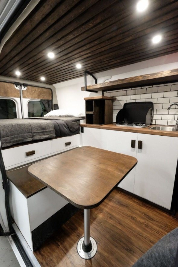 10 Camper Van Kitchens with the Cozy Amenities of Home