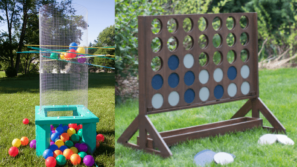 10 giant yard games you can diy from yahtzee to kerplunk diy backyard games connect four lawn games solutioingenieria Images
