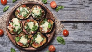 Grilled Mini Eggplant Pizzas
