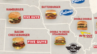 A Map of the Favorite Fast Food Burgers of Each State