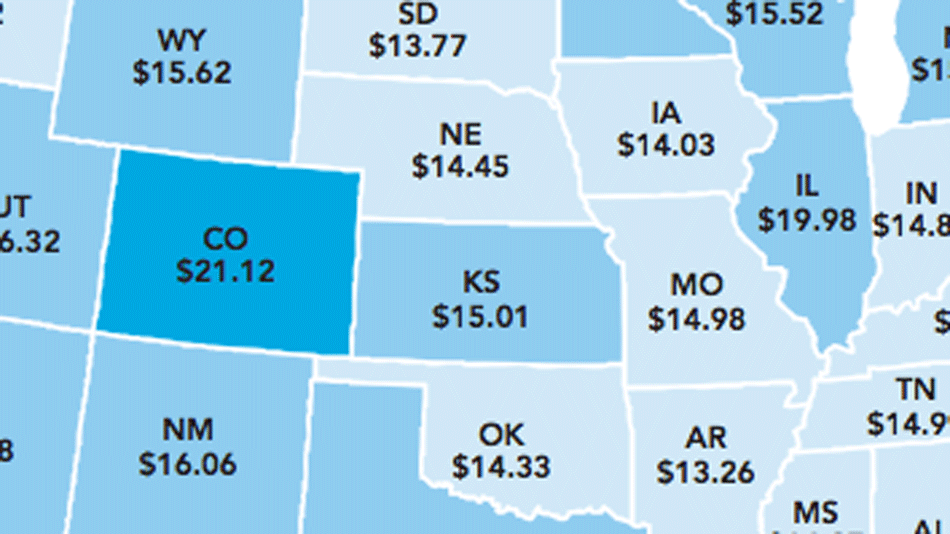 how much you have to earn to afford a 2 bedroom rental in each state