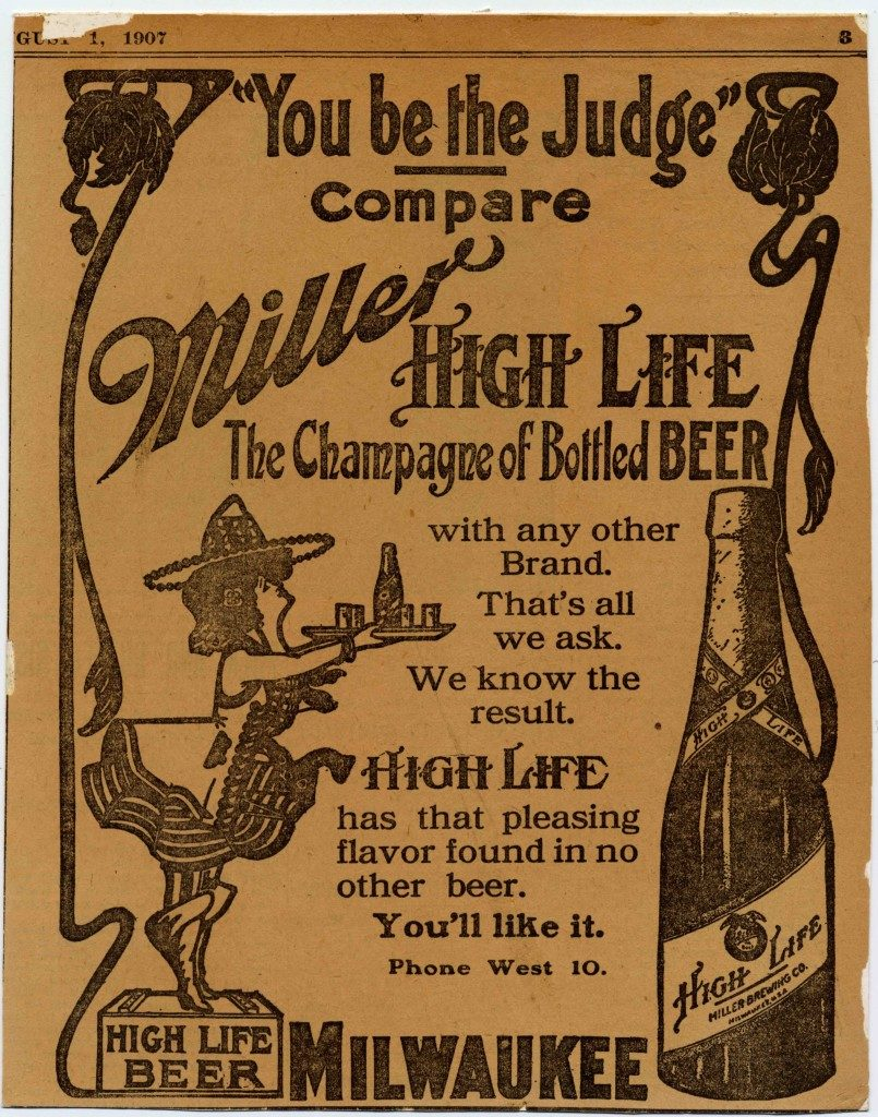 Miller High Life Champagne of Beers