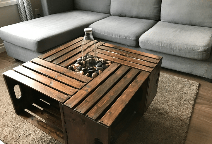 Diy Crate Coffee Table Part - 15: Diy-coffee-crate-table