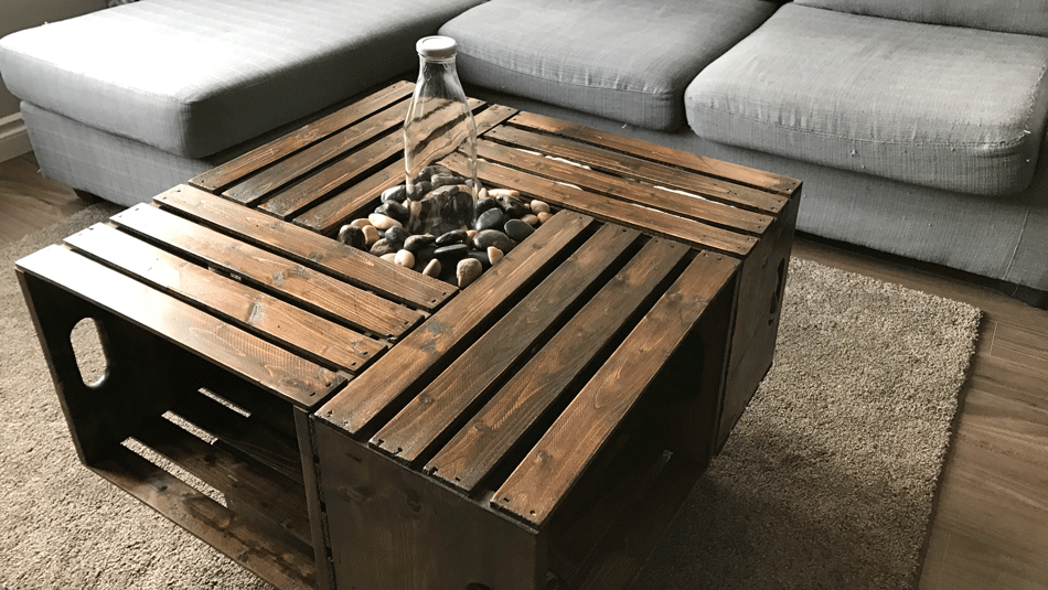 Incroyable Diy Crate Table