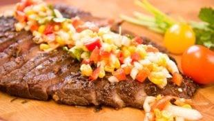 Flank Steak with Grilled Corn Salsa