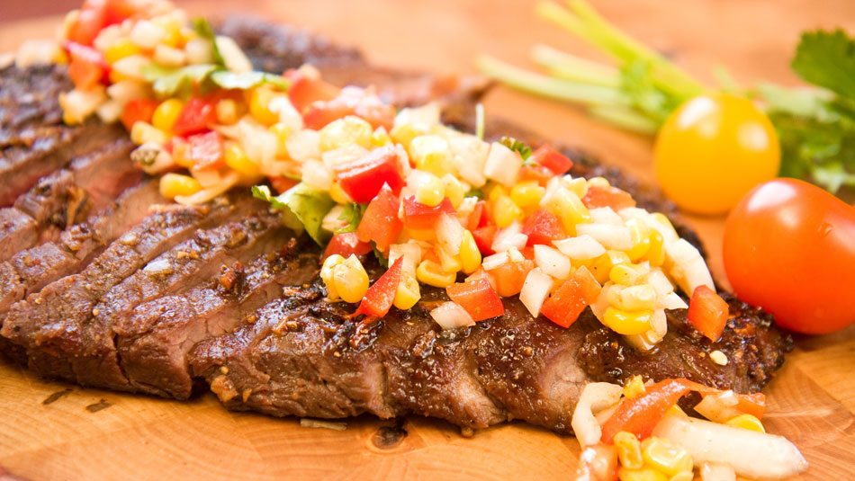 Flank-Steak-with-Grilled-Corn-Salsa