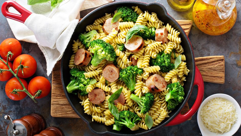 One Pot Broccoli And Sausage Pasta