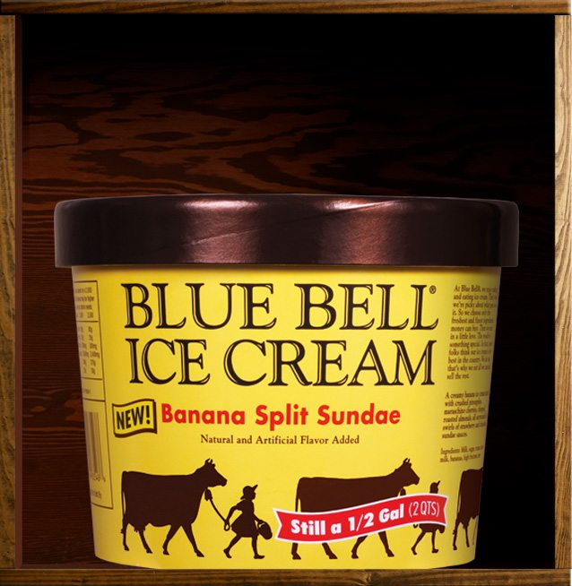 Banana Split Sundae Blue Bell Ice Cream