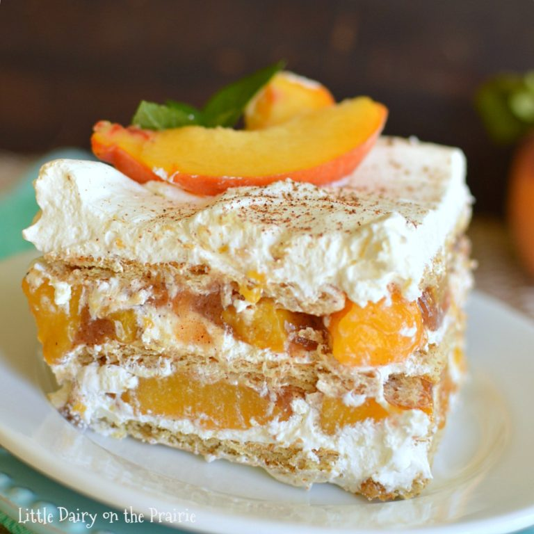 No-Bake-Peach-Cake
