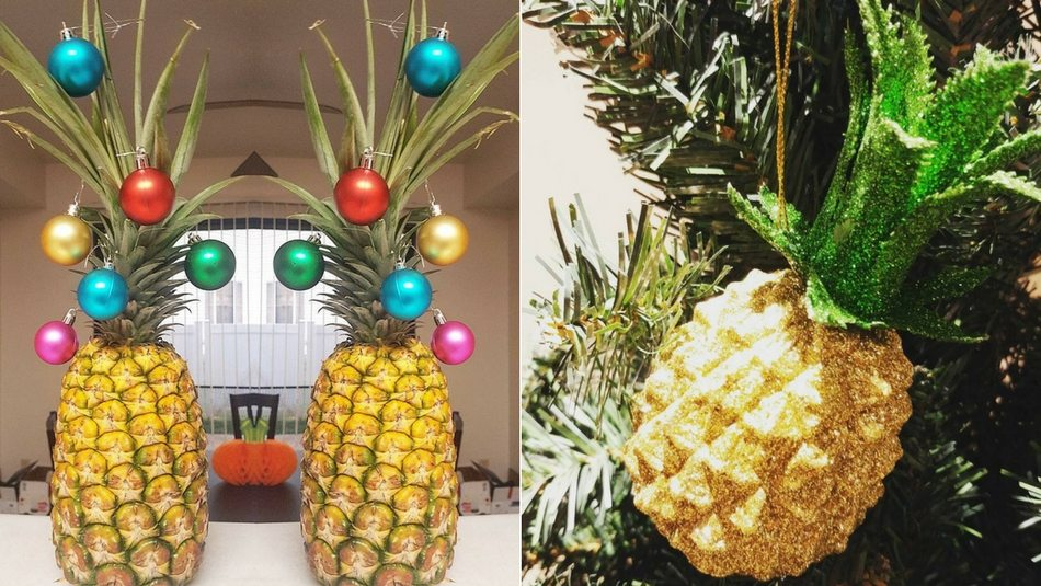 Pineapple Christmas Trees Are The Perfect Southern