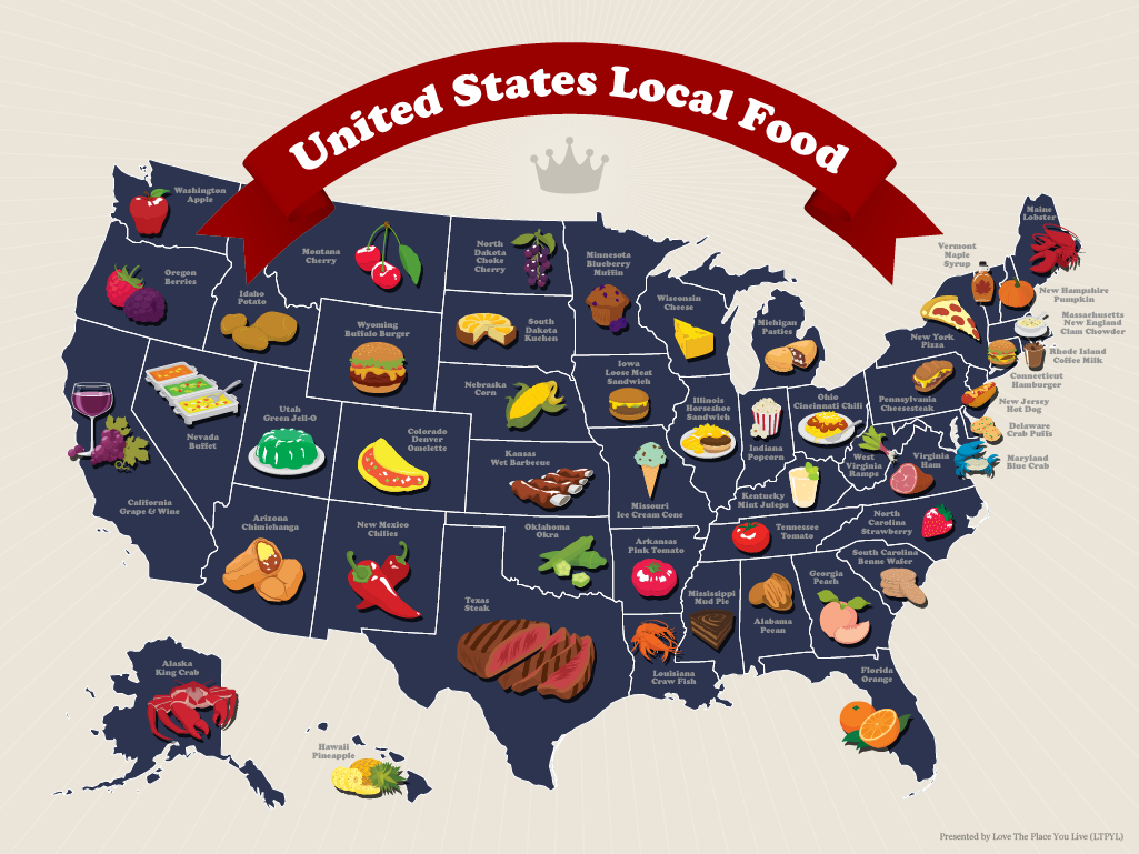 This Map Shows Each State's Best Local Food, Do You Agree?