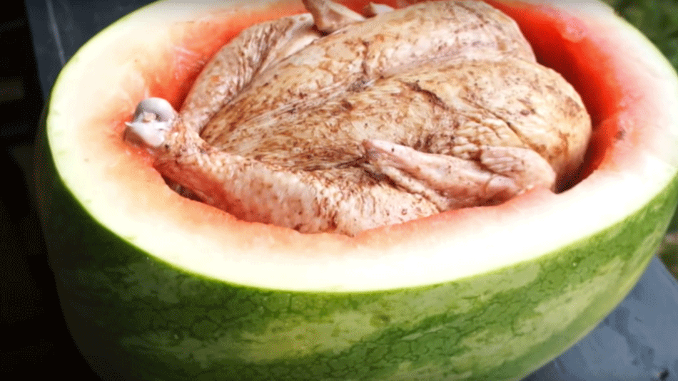 chicken-in-watermelon
