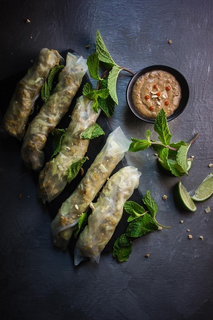 lemongrass chicken rolls