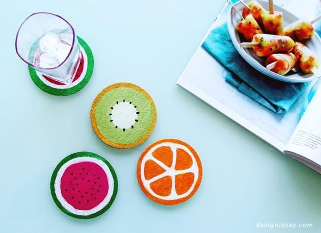 diy fruit coasters