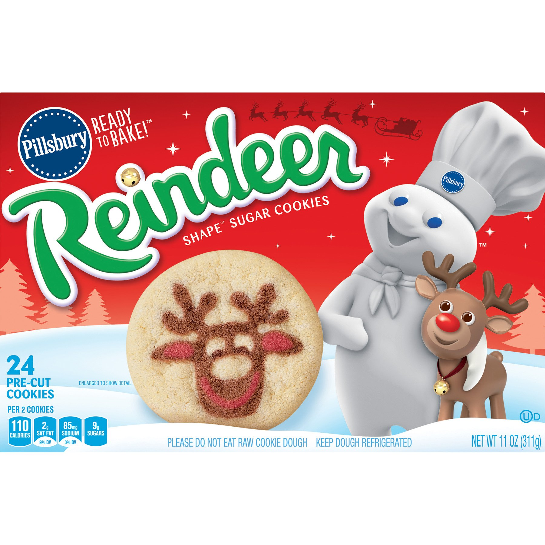 Pillsbury Ready to Bake! Reindeer Shape Sugar