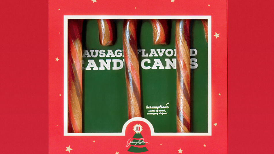 sausage candy canes