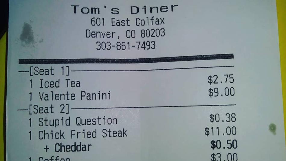 Tom's Diner