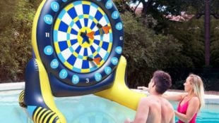 This Giant Inflatable Dartboard Set is Perfect for Pool Parties